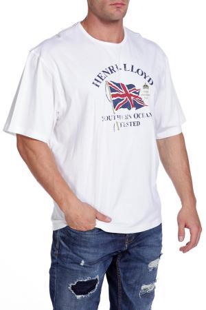 Футболка Henri Lloyd. Цвет: белый