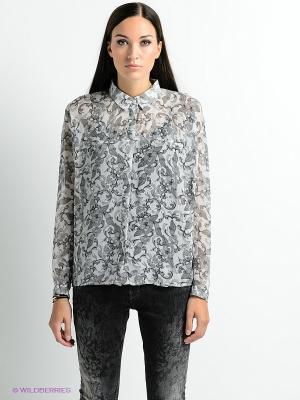 Блузка PEPE JEANS LONDON. Цвет: серый