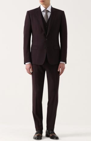 Шерстяной костюм-тройка Dolce & Gabbana. Цвет: фиолетовый