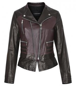 Двуцетная кожаная куртка-косуха на молнии Vericci