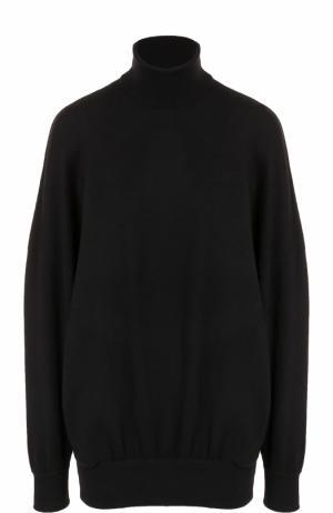 Шерстяной свитер свободного кроя Balenciaga. Цвет: черный