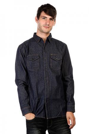 Рубашка  Marfa Denim Shirt Indigo Huf. Цвет: синий
