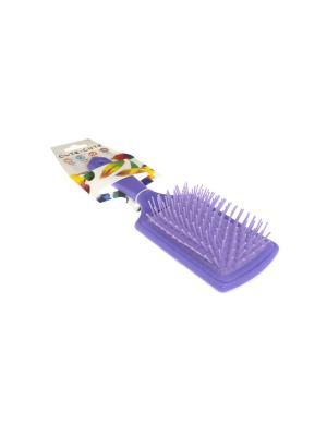Расческа прямоугольная массажная, пластиковая, фиолетовая CUTE-CUTE.. Цвет: фиолетовый