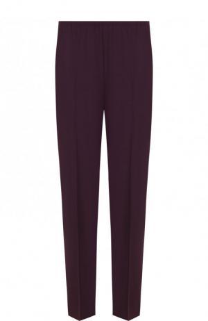 Однотонные укороченные брюки со стрелками Forte_forte. Цвет: фиолетовый