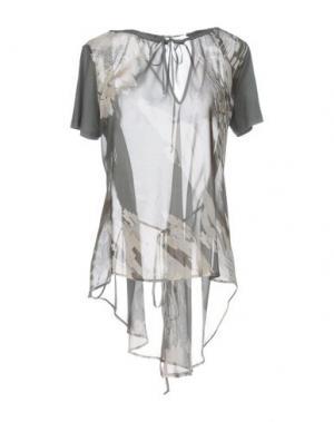 Блузка BARONI. Цвет: свинцово-серый