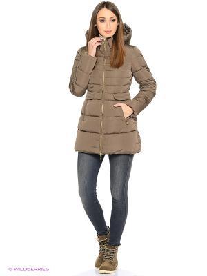 Стеганое пальто Grishko. Цвет: бежевый