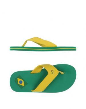Вьетнамки EA7. Цвет: желтый