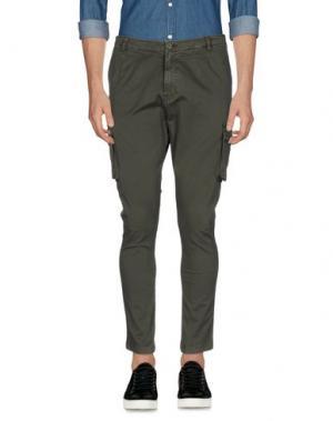 Повседневные брюки IMB I'M BRIAN. Цвет: зеленый-милитари