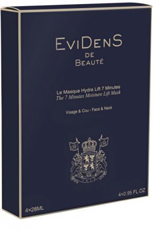 Маска Увлажнение и лифтинг для лица шеи EviDenS de Beaute. Цвет: бесцветный