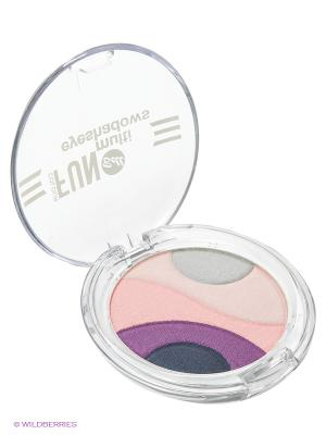 Тени для век многоцветные Colour Fun Multi Eyeshadows, тон 1 Bell. Цвет: фуксия, бледно-розовый