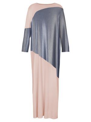 Платье трикотажное с контрастными вставками Bella kareema