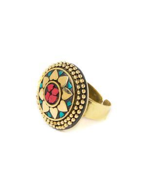 Кольцо Лотос MZ0287 Indira. Цвет: золотистый
