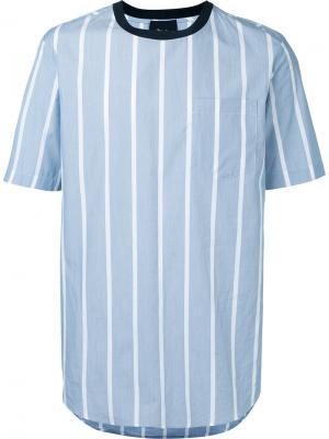 Полосатая футболка 3.1 Phillip Lim. Цвет: синий