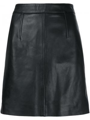 Классическая юбка Nobody Denim. Цвет: чёрный