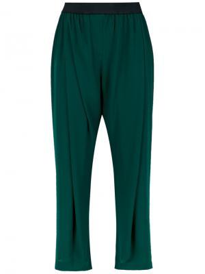 Cropped trousers À La Garçonne. Цвет: зелёный