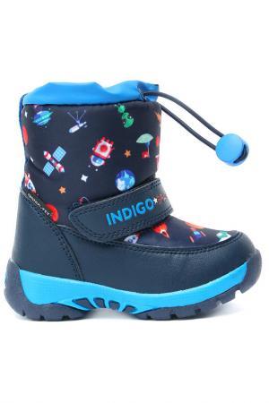 Сапоги INDIGO KIDS. Цвет: синий