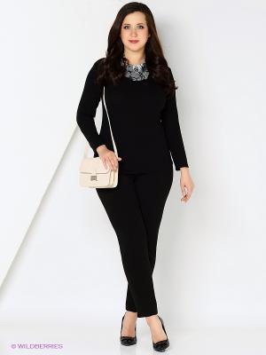 Блузка СТиКО. Цвет: черный, серый
