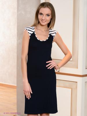 Платье V&V. Цвет: темно-синий