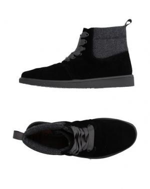 Высокие кеды и кроссовки PÀNCHIC. Цвет: черный