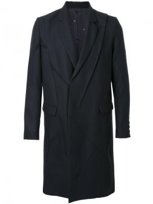Однобортное пальто Undercover. Цвет: чёрный