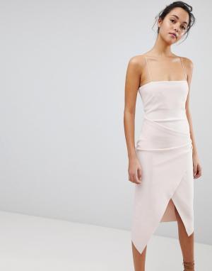 Bec & Bridge Асимметричное платье. Цвет: розовый