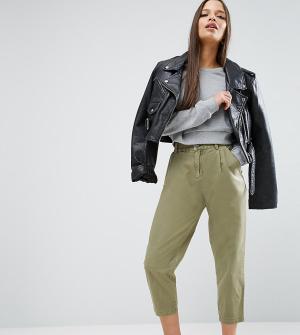 ASOS Petite Выбеленные брюки галифе Ultimate. Цвет: зеленый