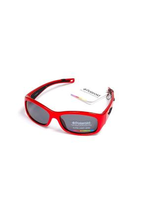 Солнцезащитные очки Polaroid. Цвет: темно-красный