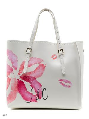 Сумка Jacky&Celine. Цвет: кремовый, розовый