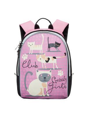 Рюкзак Grizzly. Цвет: розовый, черный, бежевый