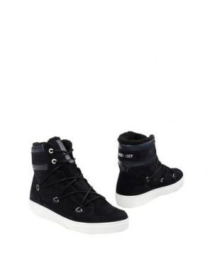 Полусапоги и высокие ботинки MOON BOOT. Цвет: темно-синий