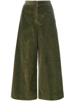 Расклешенные брюки Aspesi. Цвет: зелёный