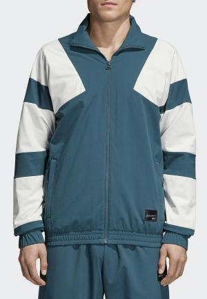 Олимпийка adidas Originals. Цвет: голубой