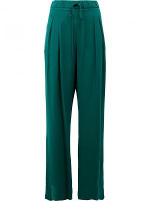 Широкие брюки с плиссировкой спереди Maison Ullens. Цвет: зелёный