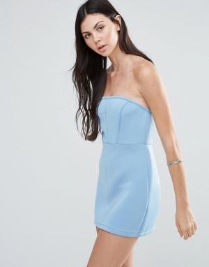 Pixie & Diamond Платье-бандо. Цвет: синий