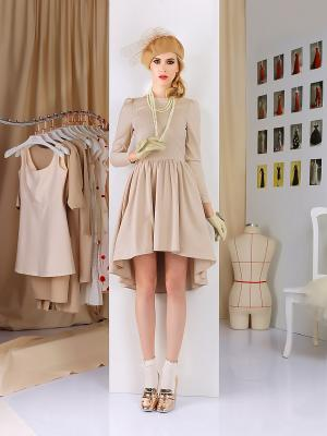 Платье Tasha Martens. Цвет: бежевый