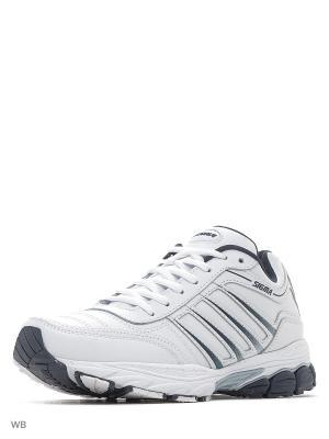 Кроссовки Sigma. Цвет: белый, серый