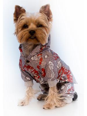Дождевик Doggy Style. Цвет: серебристый