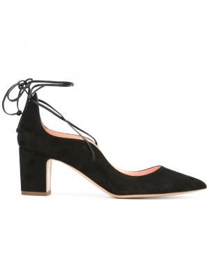 Туфли с завязками на щиколотке Rupert Sanderson. Цвет: чёрный