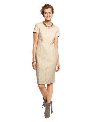 Платье APART. Цвет: молочный, золотистый
