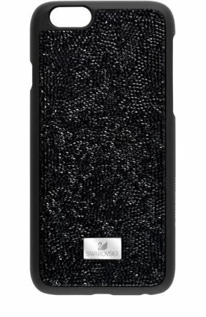 Чехол для iPhone 7 Plus Glam Rock с кристаллами Swarovski. Цвет: черный