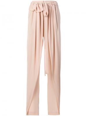 Широкие брюки Stella McCartney. Цвет: розовый и фиолетовый
