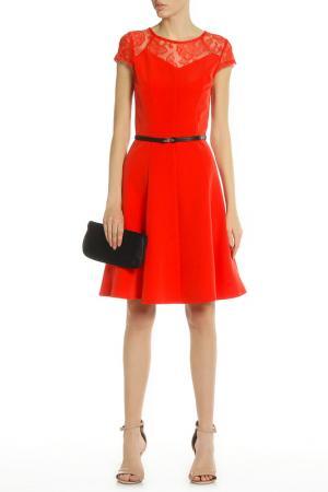 Платье PAPER DOLLS. Цвет: tomato