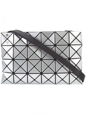Сумка на плечо с геометрическим дизайном Bao Issey Miyake. Цвет: металлический