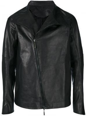 Куртка со смещенной застежкой Masnada. Цвет: чёрный