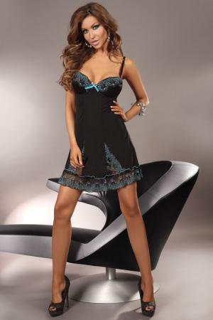 Сорочка и трусики Ceres Livia Corsetti. Цвет: черный