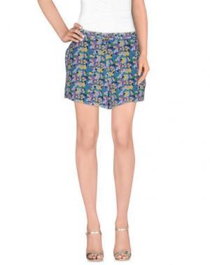 Повседневные шорты GIRL BY BAND OF OUTSIDERS. Цвет: лазурный