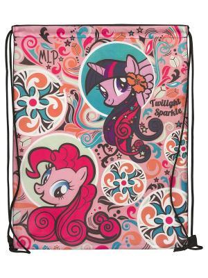 Мешок для обуви.My Little Pony My. Цвет: коричневый, розовый, морская волна