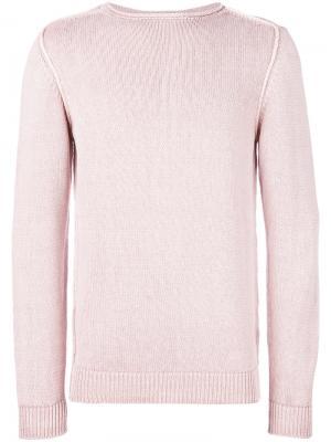 Классический свитер Dondup. Цвет: розовый и фиолетовый