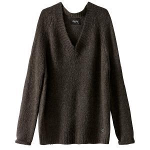 Пуловер из плотного трикотажа с V-образным вырезом SCHOOL RAG. Цвет: серый