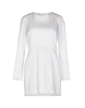 Короткое платье GOOD ON HEELS. Цвет: белый